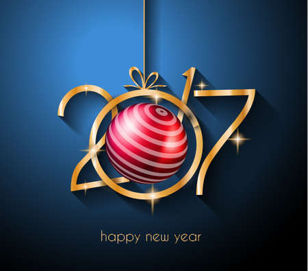christmas winter: 2017 Happy New Year Background for your Flyers and Greetings Card. Ideal to use for parties invitation, Dinner invitation, Christmas Meeting events and so on.