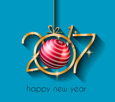 new year eve: 2017 Happy New Year Background for your Flyers and Greetings Card. Ideal to use for parties invitation, Dinner invitation, Christmas Meeting events and so on.