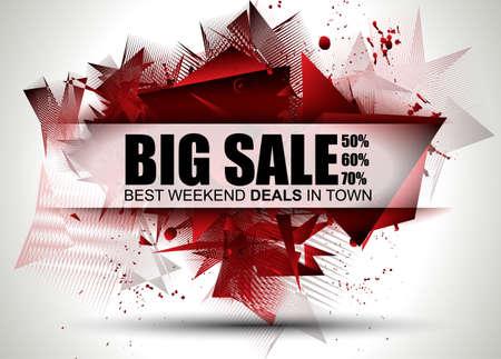 Big Sale Meilleur Discoount en bannière web de temps pour les ventes d'étiquettes de magasins, une affiche pour la publicité, dépliant de vente, matériaux vendredi et promotion web noir. Banque d'images - 52205254