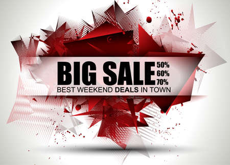 Big Sale Best Discoount in time web banner for shop sales tag, poster for advertisement, sales flyer, black friday and web promotion materials. Stock Illustratie
