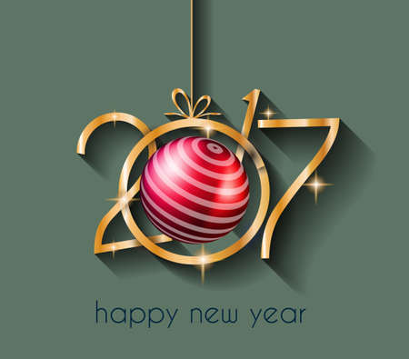 new years eve party: 2017 Happy New Year Background for your Flyers and Greetings Card. Ideal to use for parties invitation, Dinner invitation, Christmas Meeting events and so on.