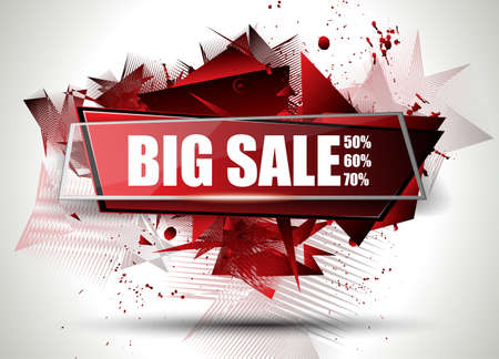 Big Sale Best Discoount in time web banner for shop sales tag, poster for advertisement, sales flyer, black friday and web promotion materials. Ilustrace