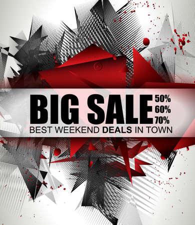 Big Sale Meilleur Discoount en bannière web de temps pour les ventes d'étiquettes de magasins, une affiche pour la publicité, dépliant de vente, matériaux vendredi et promotion web noir.