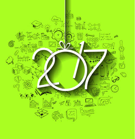 Infographic Ideas infographic year : 2017 New Year Infographic And Business Plan Background For Your ...