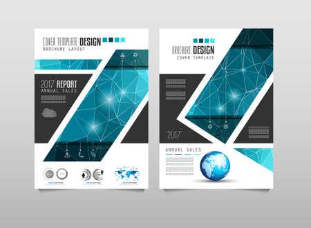 Brochure sjabloon, Folders of Depliant Cover voor zakelijke presentatie en omslagen van tijdschriften, jaarverslagen en marketing generieke doeleinden. Stockfoto - 57484781