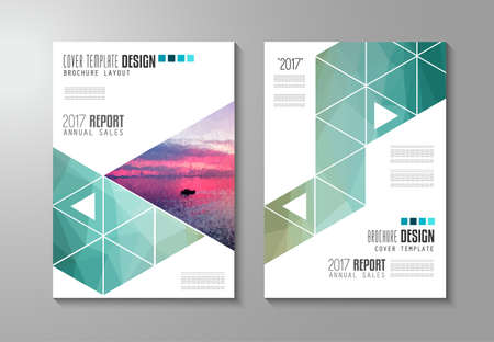 magazine cover: Brochure template, Flyer Design or Depliant Cover for business presentation and magazine covers, annual reports and marketing generic purposes.
