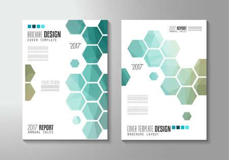 Brochure sjabloon, Folders of Depliant Cover voor zakelijke presentatie en omslagen van tijdschriften, jaarverslagen en marketing generieke doeleinden.