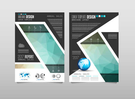 brochure cover design: Brochure template, Flyer Design or Depliant Cover for business presentation and magazine covers, annual reports and marketing generic purposes.