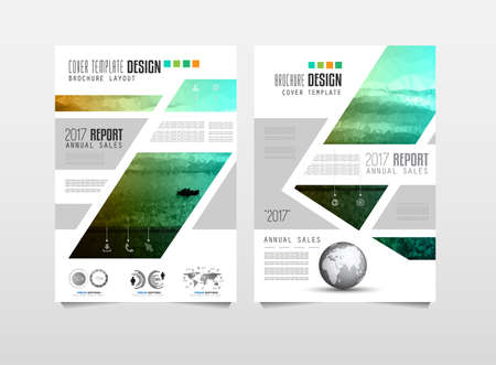 annual: Brochure template, Flyer Design or Depliant Cover for business presentation and magazine covers, annual reports and marketing generic purposes.