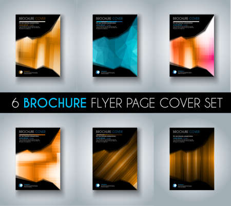 brochure cover: Set ofBrochure templates, Flyer Designs or Depliant Covers for business presentation and magazine covers, annual reports and marketing generic purposes.
