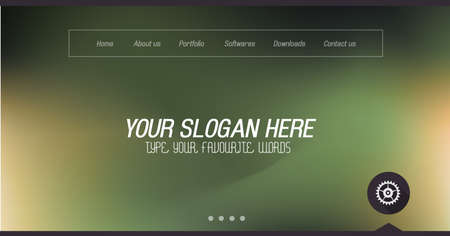 Minimal Website Home Page Design With Slider Background And Space For Text  In Header And Footer