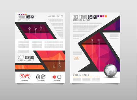 Modèle de brochure, conception de dépliant ou couverture de dépliant pour la présentation d'affaires et les couvertures de magazine, les rapports annuels et les buts génériques de vente.