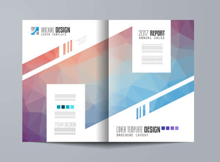 magazine design: Brochure template, Flyer Design or Depliant Cover for business presentation and magazine covers, annual reports and marketing generic purposes.