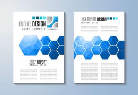 Brochure sjabloon, flyer ontwerp of Depliant Cover voor bedrijfspresentatie en tijdschriftomslagen, jaarverslagen en generieke marketingdoeleinden.