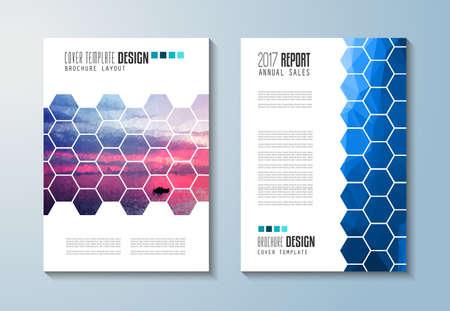 modello di brochure, depliant Volantino Design o di copertura per la presentazione aziendale e copertine di riviste, rapporti annuali e gli scopi generici di marketing. Vettoriali