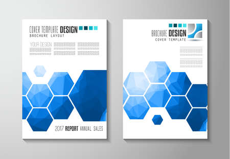 Brochure template, Flyer Design or Depliant Cover for business presentation and magazine covers, annual reports and marketing generic purposes. Imagens - 61320337