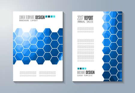 modèle Brochure, Flyer design ou Dépliant de couverture pour la présentation d'entreprise et couvertures de magazines, des rapports annuels et des objectifs génériques de marketing. Vecteurs