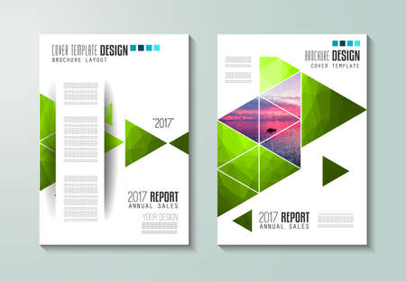 space for images: Brochure template, Flyer Design or Depliant Cover for business purposes. Elegant layout with space for text and images.