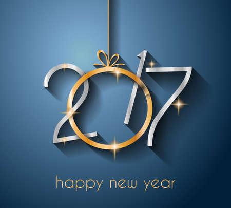 elemento: 2017 Felice anno nuovo sfondo per il vostro Stagionale Flyers e cartolina d'auguri.