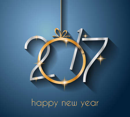 2017 Happy New Year Background pour votre Flyers et salutations saisonnières Card.