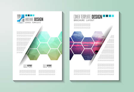 depliant: Brochure template, Flyer Design or Depliant Cover for business purposes. Elegant layout with space for text and images.