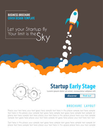 think up: Startup Landing Webpage or Corporate Design Covers to use for web promotons, printed related materials or company presentation. Space for text.
