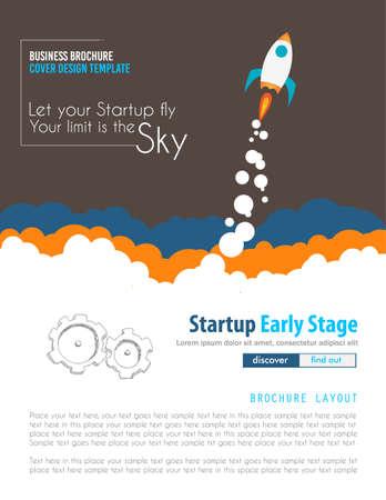 Startup Landing Webpage ou Corporate Design Covers à utiliser pour promotons Web, les documents relatifs imprimés ou présentation de la société. Espace pour le texte. Vecteurs