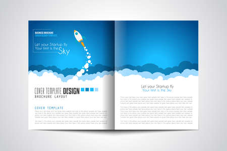 webpage: Startup Landing Webpage or Corporate Design Covers to use for web promotons, printed related materials or company presentation. Space for text.