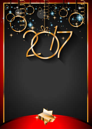 new years eve dinner: 2017 Happy New Year Background for your Seasonal Flyers and Greetings Card.