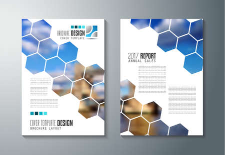 Brochure template, Flyer Design or Depliant Cover for business purposes. Elegant layout with space for text and images. Imagens - 63792945