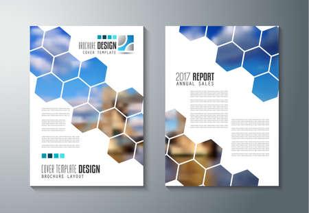 Modelo del folleto, folleto o diseño de la cubierta Depliant para fines comerciales. diseño elegante con espacio para el texto y las imágenes. Ilustración de vector