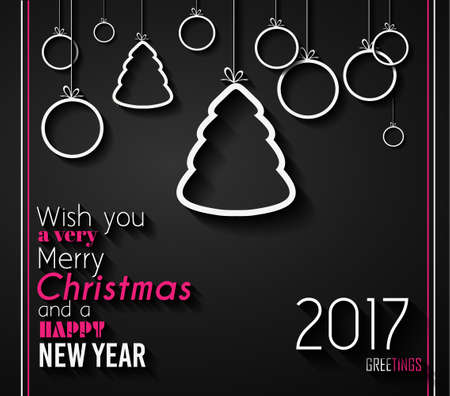 christmas meal: 2017 Happy New Year Background for your Seasonal Flyers and Greetings Card or Christmas themed invitations.