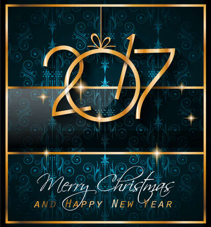 new years background: 2017 Happy New Year Background for your Seasonal Flyers and Greetings Card or Christmas themed invitations.