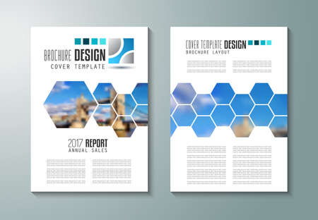 front: Brochure template, Flyer Design or Depliant Cover for business purposes. Elegant layout with space for text and images.