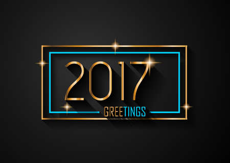 happy new years: 2017 Happy New Year Background for your Seasonal Flyers and Greetings Card or Christmas themed invitations.