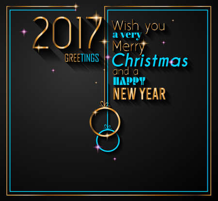 christmas poster: 2017 Happy New Year Background for your Seasonal Flyers and Greetings Card or Christmas themed invitations.
