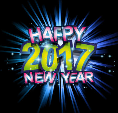 new year dance: 2017 Happy New Year Club Party Background for your Seasonal Dance Event and Discoteque Poster or Christmas Related music fest.