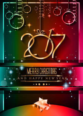 new years eve dinner: 2017 Happy New Year Background for your Seasonal Flyers and Greetings Card or Christmas themed invitations.