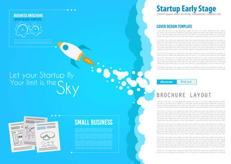 design process: Startup Landing Webpage or Corporate Design Covers to use for web promotons, printed related materials or company presentation. Space for text.
