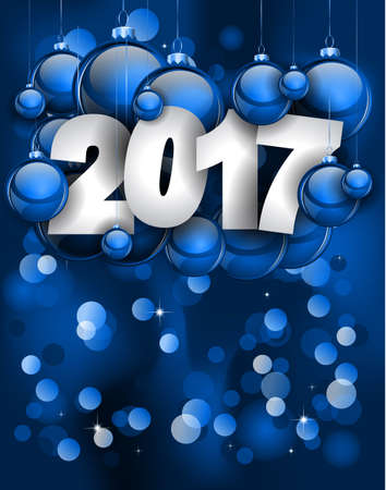 seasonal: 2017 Happy New Year Background for your Seasonal Flyers and Greetings Card or Christmas themed invitations.
