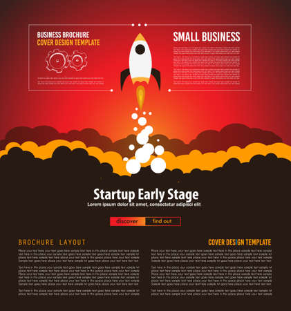 web development: Startup Landing Webpage or Corporate Design Covers to use for web promotons, printed related materials or company presentation. Space for text.