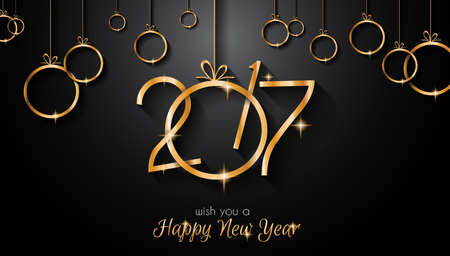 2017 Happy New Year Background for your Seasonal Flyers and Greetings Card or Christmas themed invitations. Stock Photo
