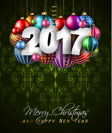new years eve party: 2017 Happy New Year Background for your Seasonal Flyers and Greetings Card or Christmas themed invitations.