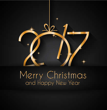 new year's card: 2017 Happy New Year Background for your Seasonal Flyers and Greetings Card or Christmas themed invitations.