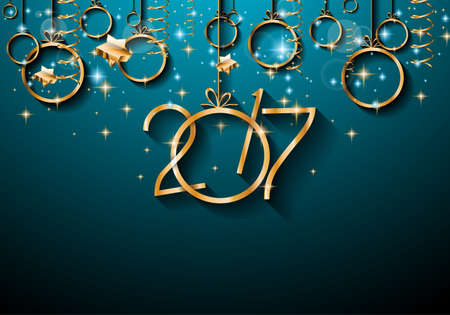 festive background: 2017 Happy New Year Background for your Seasonal Flyers and Greetings Card or Christmas themed invitations.