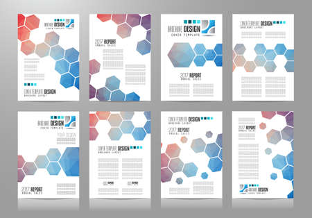 sheet of paper: Set of Brochure templates, Flyer Designs or Depliant Covers for business presentation and magazine covers, annual reports and marketing generic purposes.