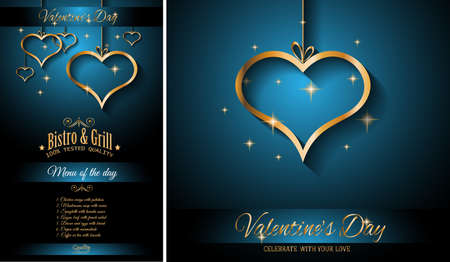 dinner menu: Valentines Day Restaurant Menu Template Background for Romantic Dinner Event, Parties Lunch Event Invitations, Love Cards and so on.