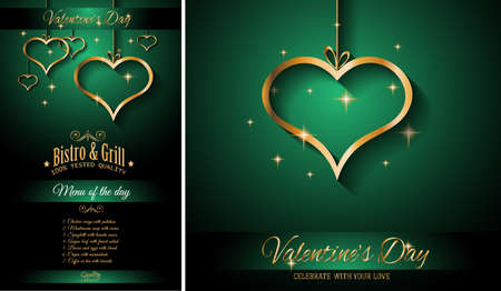 wedding couple: Valentines Day Restaurant Menu Template Background for Romantic Dinner Event, Parties Flyer, Lunch Event Invitations, Love Cards and so on. Illustration