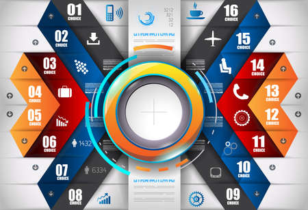 websit: Infograph template with multiple choices and a lot of infographic design elements and mockups. Ranking elements to display product comparison, business plans and so on.
