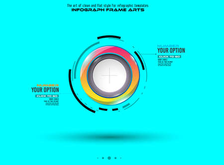 websit: Infograph template with multiple choices and a lot of infographic design elements and mockups.